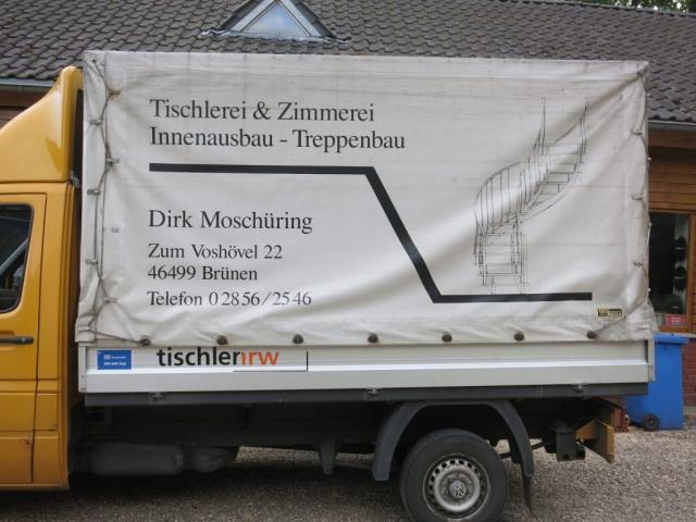 Tischlerei und Zimmerei Moschüring, seit 1996 in Brünen.