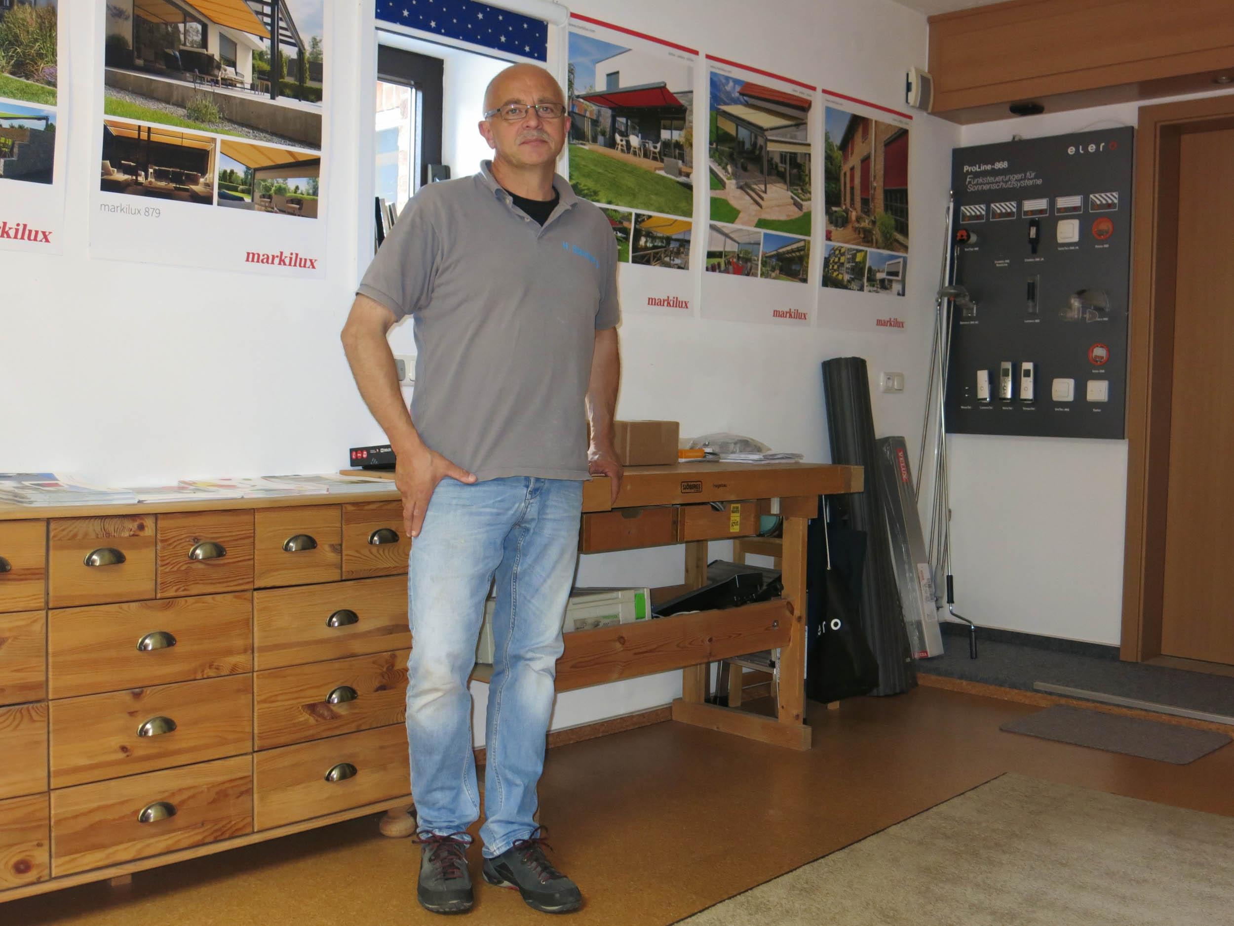 Seit dem 1. Februar 2000 selbstständig: Hubert Steinkamp.